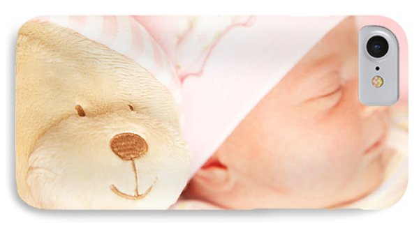 Cute Little Baby Sleeping Phone Case by Anna Om