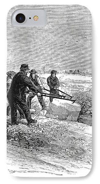 Cutting Ice, C1870 Phone Case by Granger