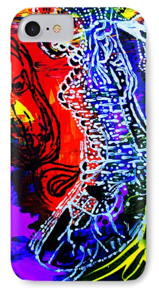 IPhone Case featuring the painting Dinka Bride by Gloria Ssali