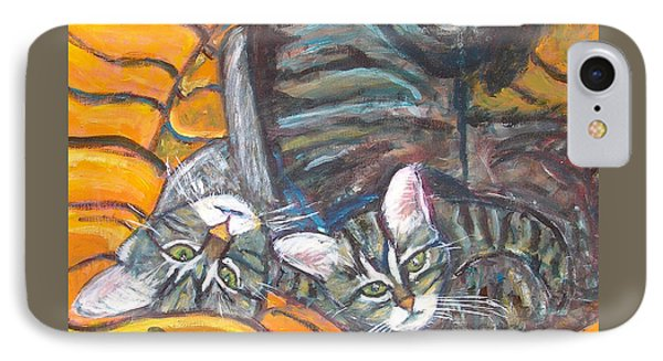 Dos Gatos Phone Case by Carolyn Donnell