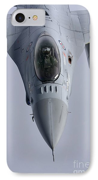 F-16 Fighting Falcon Of The Norwegian IPhone Case by Daniel Karlsson