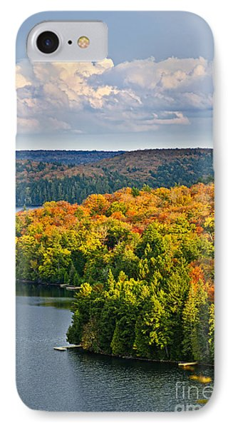 Fall Forest And Lake Phone Case by Elena Elisseeva