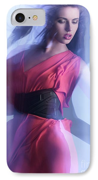 Fashion Photo Of A Woman In Shining Blue Settings Phone Case by Oleksiy Maksymenko