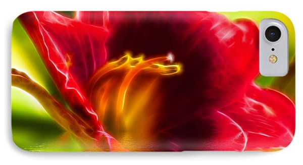 Floral Fractals And Floods Digital Art Phone Case by David French