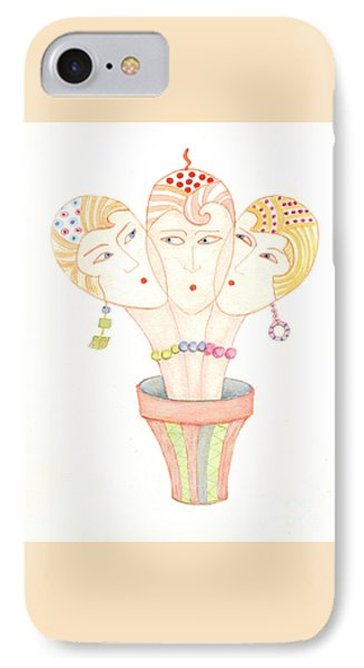 IPhone Case featuring the painting Flower Pot Ladies by Nareeta Martin