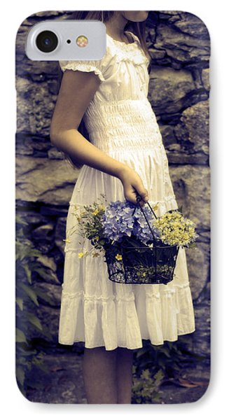 Girl With Flowers Phone Case by Joana Kruse