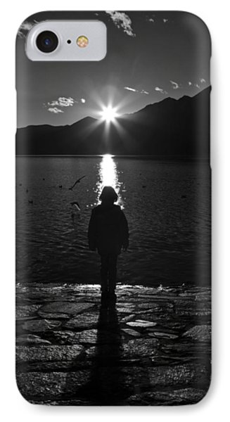 Girl With Sunset IPhone Case by Joana Kruse