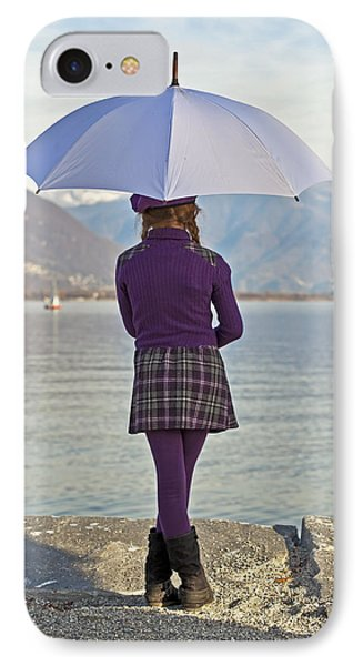 Girl With Umbrella Phone Case by Joana Kruse
