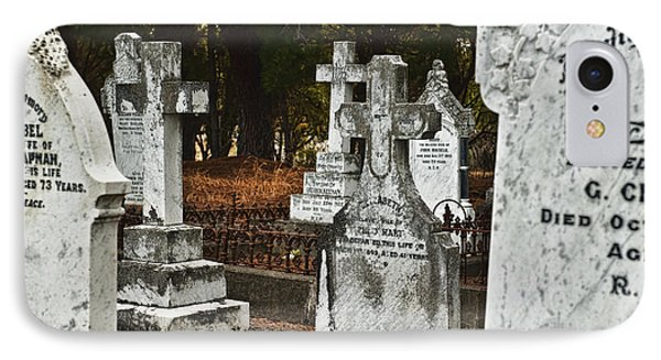 Gravestones In Graveyard IPhone Case