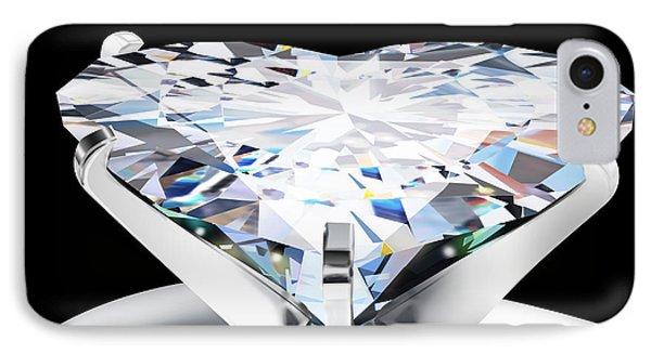 Heart Diamond Phone Case by Setsiri Silapasuwanchai
