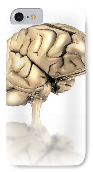 Human Brain, Artwork Phone Case by Victor Habbick Visions