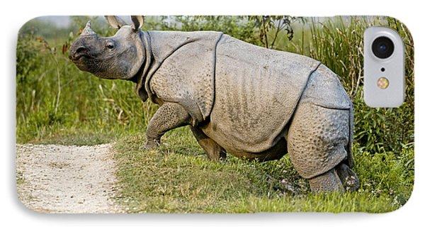 Indian Rhinoceros IPhone Case by Tony Camacho