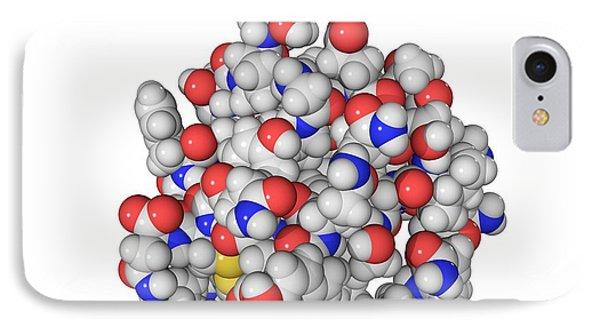 Insulin Molecule Phone Case by Laguna Design