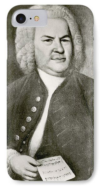 Johann Sebastian Bach, German Baroque Phone Case by Photo Researchers