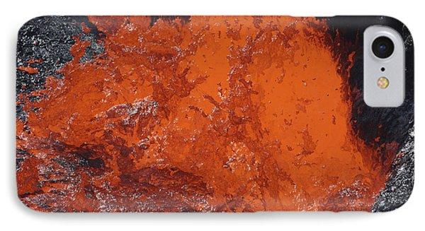 Lava Bursting At Edge Of Active Lava Phone Case by Richard Roscoe