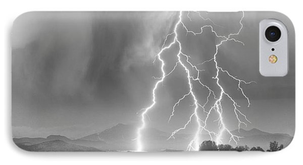 Lightning Striking Longs Peak Foothills 6 Phone Case by James BO  Insogna
