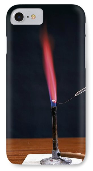 Lithium Flame Test Phone Case by Andrew Lambert Photography