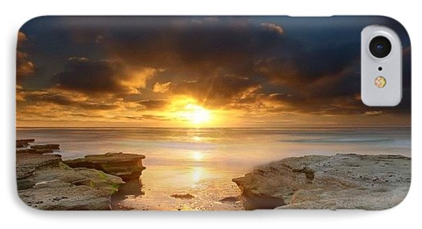 Long Exposure Sunset In North San Diego IPhone Case by Larry Marshall