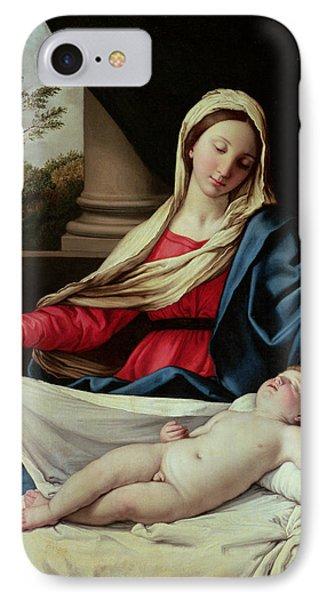 Madonna And Child Phone Case by Il Sassoferrato