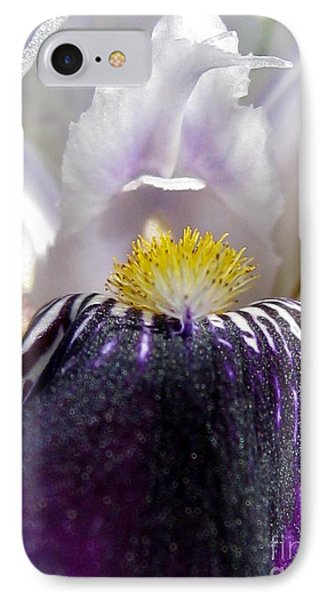 IPhone Case featuring the photograph Miniature Tall Bearded Iris Named Consummation by J McCombie
