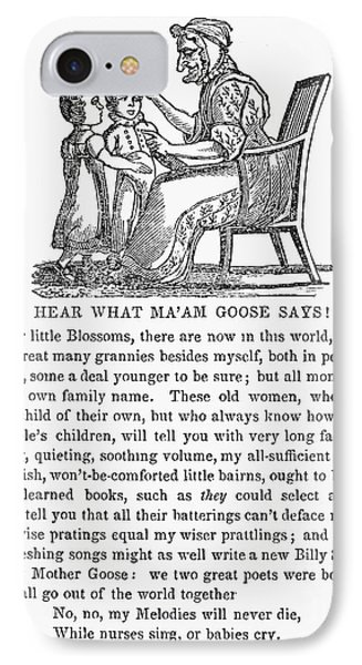 Mother Goose, 1833 Phone Case by Granger