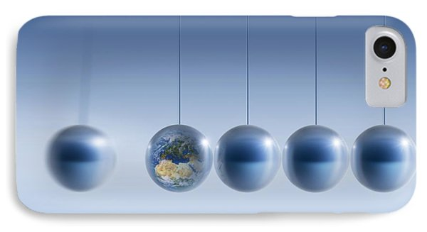 Newtonian Earth, Conceptual Artwork Phone Case by Detlev Van Ravenswaay