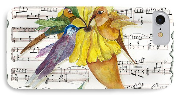 IPhone Case featuring the mixed media 2 Of 2 - Natures Symphony-in Three-part Harmony by Joy Braverman