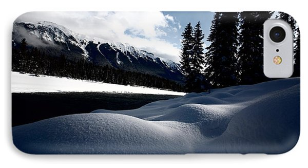 Open Water In Winter Phone Case by Mark Duffy