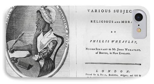 Phillis Wheatley, African-american Poet Phone Case by Photo Researchers