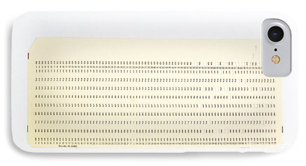 Punch Card Phone Case by Photo Researchers, Inc.
