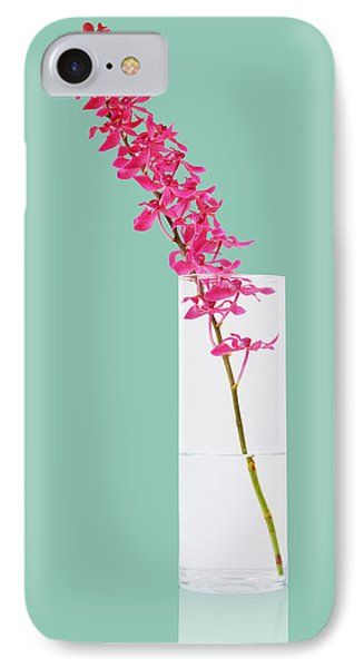 Red Orchid Bunch Phone Case by Atiketta Sangasaeng
