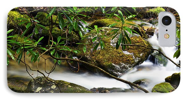 Rhododendron And Waterfall Phone Case by Thomas R Fletcher