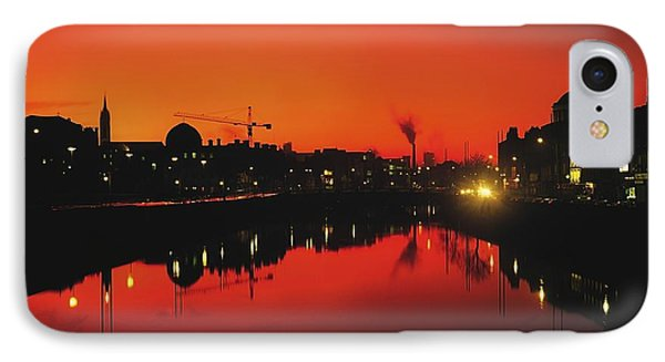 River Liffey, Dublin, Co Dublin, Ireland Phone Case by The Irish Image Collection