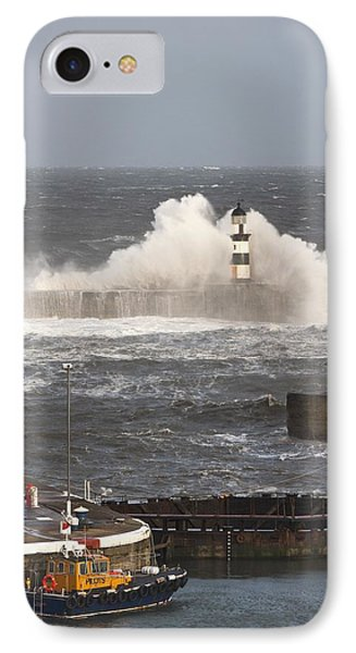 Seaham, Teesside, England Waves Phone Case by John Short