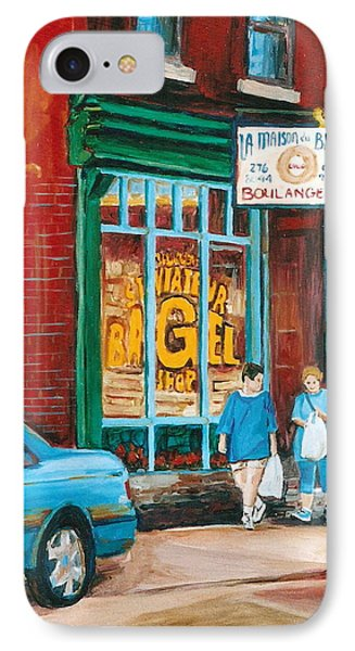 St. Viateur Bagel Shop IPhone Case by Carole Spandau