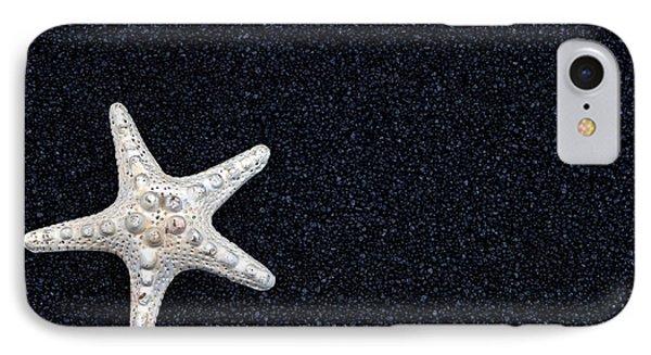 Starfish On Black Sand Phone Case by Joana Kruse