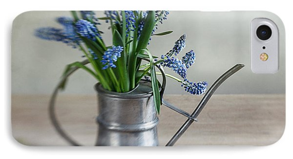 Still Life With Grape Hyacinths Phone Case by Nailia Schwarz