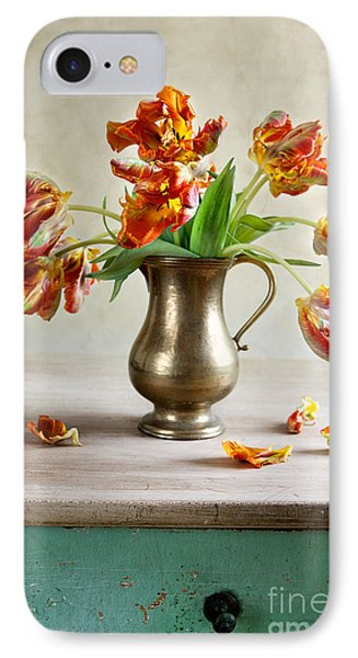 Tulip iPhone 7 Case - Still Life With Tulips by Nailia Schwarz