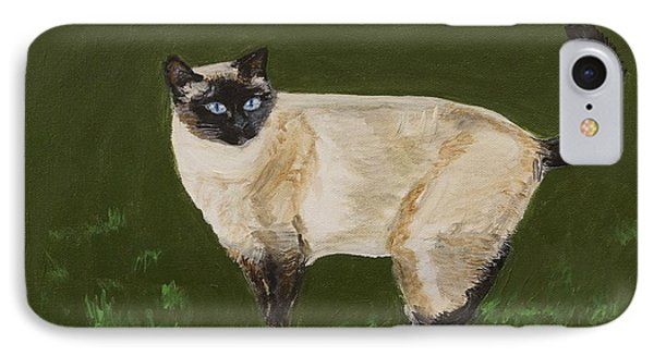 Sweetest Siamese Phone Case by Leslie Allen