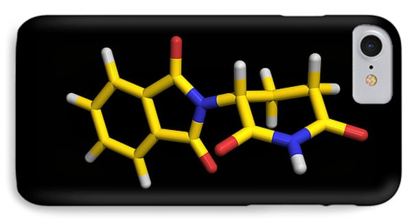 Thalidomide Drug Molecule Phone Case by Dr Tim Evans
