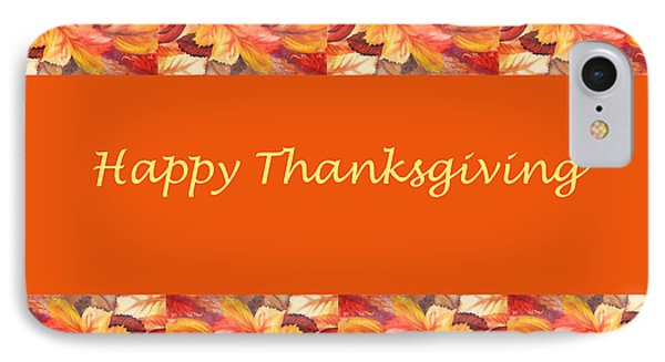 Thanksgiving Card Phone Case by Irina Sztukowski