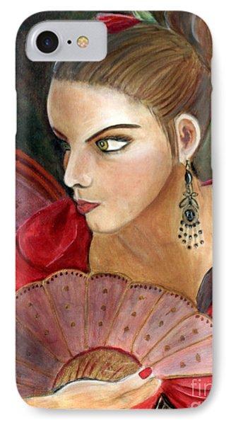 The Flamenco Dancer Phone Case by Pilar  Martinez-Byrne