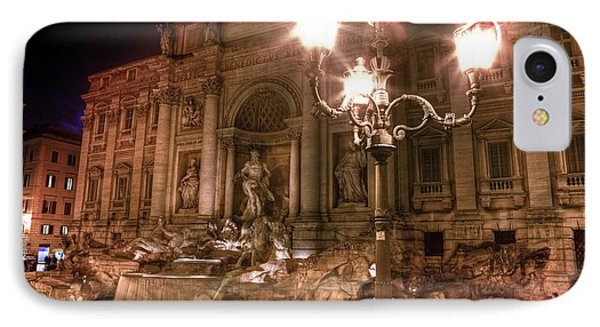 Trevi Fountain At Night IPhone Case