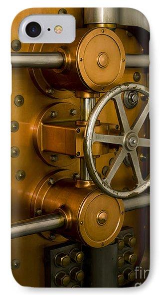 Tumbler On A Vault Door Phone Case by Adam Crowley