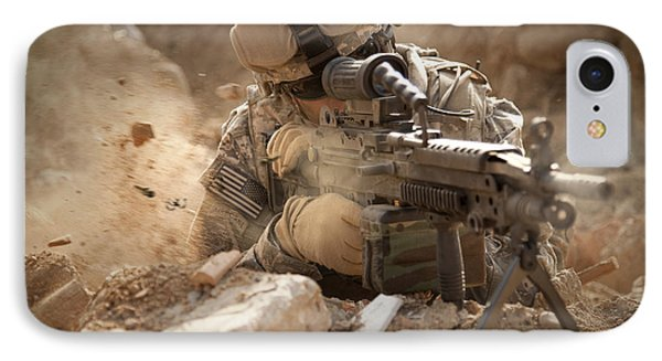 U.s. Army Ranger In Afghanistan Combat Phone Case by Tom Weber