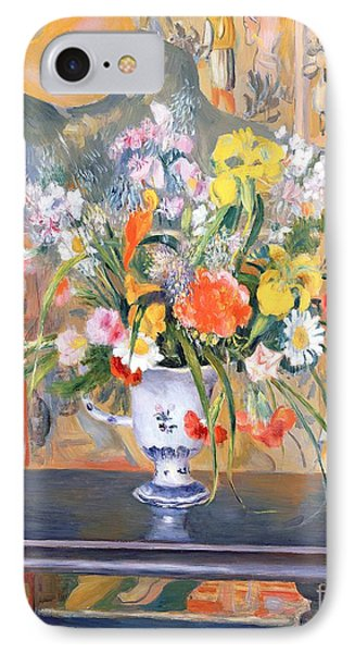 Vase Of Flowers IPhone Case by Pierre Auguste Renoir