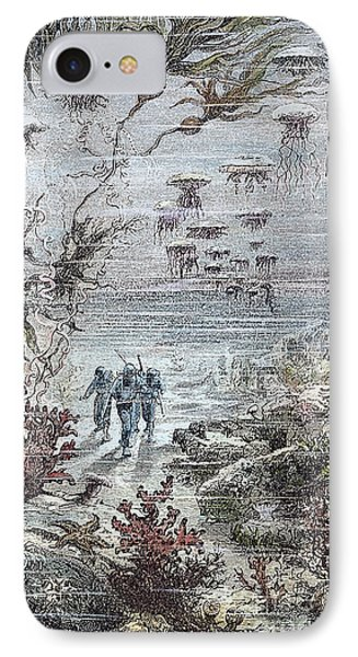 Verne: 20,000 Leagues, 1870 Phone Case by Granger