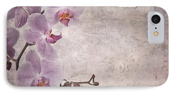 Vintage Orchids Phone Case by Jane Rix