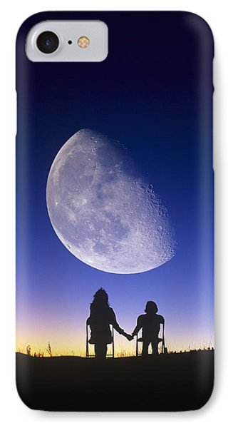 Waning Gibbous Moon Phone Case by David Nunuk