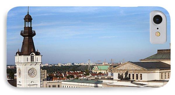 Warsaw Cityscape IPhone Case by Artur Bogacki
